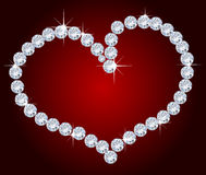 diamanthjärta Fotografering för Bildbyråer