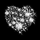 Diamanthjärta Arkivfoto