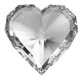 Diamanthjärta stock illustrationer