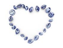 diamanthjärta Royaltyfri Fotografi