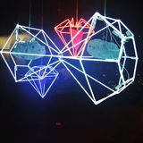 Diamanti al neon fotografia stock