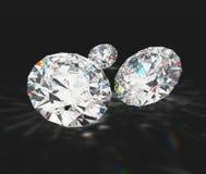 Diamanti con priorità bassa nera Immagini Stock