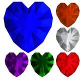Diamanti del cuore Fotografia Stock