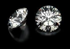 Diamanti del taglio rotondo Immagini Stock Libere da Diritti
