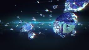 Diamanti di caduta archivi video