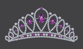 Diamanti di re Crown illustrazione di stock