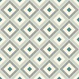 Diamanti e linee ripetuti della covata Carta da parati di Ikat Modello di superficie senza cuciture con progettazione indigena Or illustrazione vettoriale