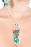 Diamanti e smeraldi Fotografia Stock Libera da Diritti