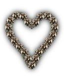Diamanti a forma di del cuore Fotografia Stock