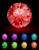 Diamanti reali Illustrazione di Stock