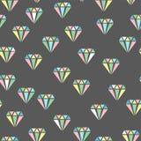 Diamanti Reticolo senza giunte astratto Immagine Stock