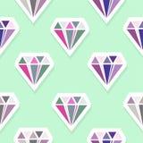 Diamanti Reticolo senza giunte astratto Fotografia Stock