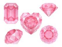 Diamanti rosa dell'acquerello Fotografia Stock Libera da Diritti