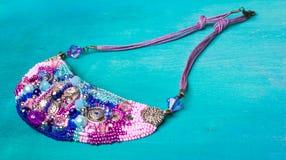 Diamanti rosa fatti a mano e cristallo dei gioielli di lusso Fotografia Stock Libera da Diritti