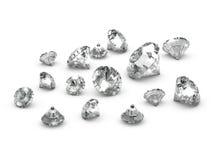 diamanti sparsi 3d Fotografia Stock Libera da Diritti
