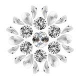 Diamanti su bianco Immagine Stock Libera da Diritti