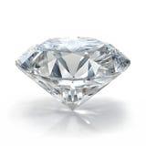 Diamantjuwel auf weißem Hintergrund lizenzfreie stockfotografie