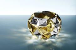 Diamantjuwelen met gouden parels Royalty-vrije Stock Foto