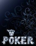 Diamantkasino-Pokerkarte lizenzfreie abbildung