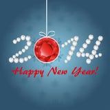 Diamantkort för nytt år Arkivbild