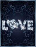 Diamantliebes-Hochzeitskarte Lizenzfreie Stockbilder