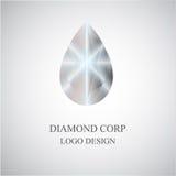 Diamantlogo, symbol, design, vektorillustration i den plana designen för webbplatser Arkivfoton