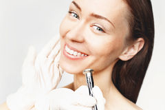 Diamantmicrodermabrasion Stock Afbeelding