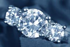 Diamantring stockbilder
