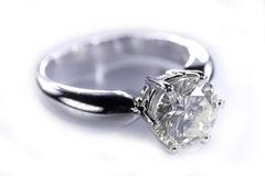 Diamantring Stockfoto