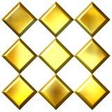 diamants 3D d'or Images stock