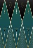 Diamants Art Deco Background Photographie stock libre de droits