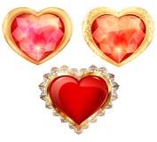 Diamants avec l'éclat des formes et de l'illustration de couleurs différentes Photo stock