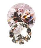 Diamants avec le chemin de découpage Photo libre de droits