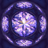 Diamants bleus Images libres de droits