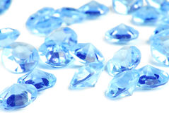 Diamants bleus Photos libres de droits