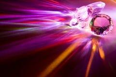 Diamants d'arc-en-ciel Photos libres de droits