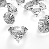 Diamants 3d en composition comme concept Images libres de droits