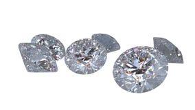 Diamants d'isolement sur le modèle blanc du rendu 3D Photo stock