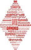 Diamants de carte Images stock