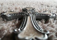 Diamants de croix de Christian Jesus en bois Photos libres de droits
