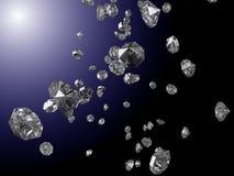 Diamants en baisse Photos stock