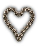 Diamants en forme de coeur illustration stock