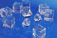 Diamants et glace Images stock