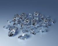 Diamants nombreux Images stock