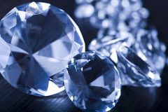 Diamants - pierres gemmes Photographie stock