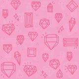 Diamants roses Image stock