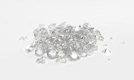 Diamants sur le fond blanc Photos stock