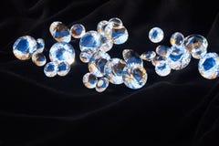 Diamants sur le noir Image libre de droits