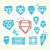 Diamants tirés par la main Photographie stock libre de droits