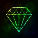 Diamantschattenbild von Lichtern Lizenzfreies Stockfoto